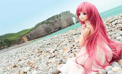Like a mermaid - DD Megurine Luka (Hasuno_Hanadoll) Tags: dollfie dream luka megurine vocaloid custom doll bjd anime style beach france limitedhead customhead volks collecting