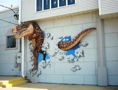 T. Rex (Joanna Key) Tags: dinosaur 3dwallart streetart champaign illinois t rex