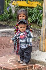 Siblings rural Guatemala (Pejasar) Tags: boy girl children toddler guatemala rural nativedress color child hat cap siblings brother sister