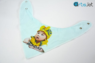 Colored baby bibs printing