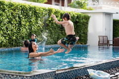 697827720 (bluehavenpoolsandspas) Tags: vacation pool happy floating girl kid woman outside kids smiles leisure relationship person warmth love dad boy jump healthy holiday asian thailand tha