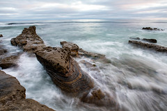 Windansea, La Jolla, San Diego, CA (Photos By Clark) Tags: california cities subjects beachshots location canon2470 unitedstates northamerica sandiego canon5div locale places where us windansea waves longexposure lajolla rocks cliffs clouds blue green brown flow tide water pacific ocean horizon lightroom nik colorefx