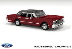 Ford do Brasil - Landau 1976 (lego911) Tags: ford landaul ltd galaxie 1966 1976 sedan saloon do brasil brazil v8 luxury south america auto car moc model miniland lego lego911 ldd render cad povray 1970s classic foitsop