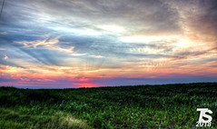 2/2 Summer Sunset over Northern Hardin County, Iowa near Iowa Falls, Iowa 6-29-18 (KansasScanner) Tags: iowa iowafalls ackley buckeye alden cn csx up ns bnsf iarr train railroad sunset