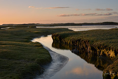 Tidal river (Joep10) Tags: northuist europe unitedkingdom isle outdoors outerhebrides hebrides water nopeople noperson ~what ~land drylake saltpan sunset landforms grassland 6imagetype landscape scotland saltings waterscape saltmarshes tidalrivers mudflats mud machair