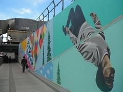 YYC City Centre (Mr. Happy Face - Peace :)) Tags: art2018 fence fencefriday calgary alberta canada streetscape