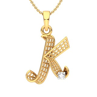 'K' Alphabet Pendant