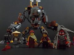 Major Galbraith's Martian Mining Mech (SaurianSpacer) Tags: lego moc steampunk mech drill martiansteampunk