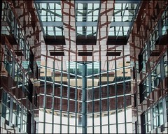 Glass and Metal Abstract L1 (ammozug) Tags: abstract architectural glass metal stone reflection officestructure officebuilding