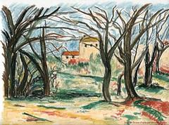 Cézanne (Loran de Cevinne) Tags: lorandecevinne loran france dessin esquisse artwork croquis sketch draw drawing illustration pastel pastelàlhuile cézanne paysage campagne