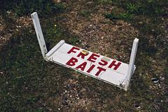Fresh Bait (sixthland) Tags: bait dungeness fresh headland kent shingle sign