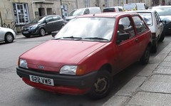 1990 Ford Fiesta Popular Plus #1 (occama) Tags: g22vws 1990 ford popular plus 999cc red rusty cornwall uk bangernomics old