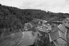 Bouillon, Belgium (bm^) Tags: bouillon luxemburg belgië view vogelperspectief perspectief perspective castle river rivier kasteel brug bridge landscape zeiss d700 nikond700 nikon distagon282zf начинизавиждане distagont228 belgium belgique black white bw monochrome