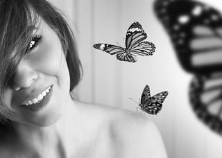 Butterflies, I still get them...