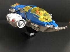 Komodo-class Gunship (SaurianSpacer) Tags: lego moc classicspace neoclassicspace spaceship gunship komododragon