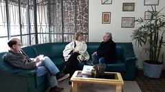 14/06/18 - Visita ao jornal Diário da Manhã. Com o diretor Hélio Freitag e jornalista Gustavo dos Santos.