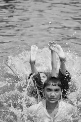 Summer Water Fun (shuvrosettledown.jpg) Tags: streetlife lifestyle life waterdrop blackandwhite workers art sony alpha 2004 2005 2006 2007 2008 2009 architecture kids summer lak lake child