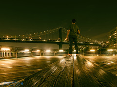 Owning The Night (Brian D' Rozario) Tags: brian19869 briandrozario nikon d750 tokina1116mm cityscape night city urban urbex explorer traveller traveler solitude structure architecture solo manhattan bridge brooklynbridgepark newyork newyorkcity reflection reflections suspension longexposure summer2018 megacity citylife citylights metropolitan