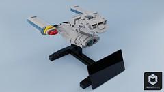 To the Battle Bridge! (ORION_brick) Tags: lego star trek uss enterprise d ncc 1701 flagship battle bridge battlebridge saucer seperation render mecabricks space spaceship