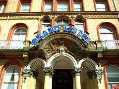 Grand Hotel entrance in Scarborough (Tony Worrall) Tags: update place location uk england north visit area attraction open stream tour country item greatbritain britain english british gb capture buy stock sell sale outside outdoors caught photo shoot shot picture captured yorkshire northyorkshire yorks scarborough hotel grand entrance doorway ornate stay holiday