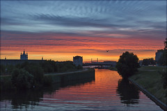 Закат на Охте. Sunset at the Okhta River. St. Petersburg (atardecer2018) Tags: санктпетербург 2018 нева лето sanpetersburgo summer city cielo russia river