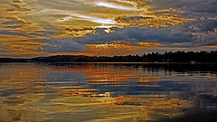''Good Heavens Above'' !! (Bob's Digital Eye) Tags: bobsdigitaleye canon clouds dramaticskies efs24mmf28stm june2018 lake lakesunsets reflections silhouette sky sunset sunsetsoverwater t3i water laquintaessenza