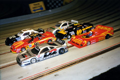 Toy Time (twm1340) Tags: bailey co colorado park county slot car racing raceway mountain electric battery scale model wing track mcdonalds ford taurus nascar danka momo ferrari