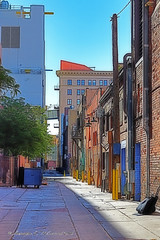 Alleyway (Shadow _ Traveler) Tags: alleyway photography road streets streetphotography architecture architecturephotography buildinginalleyway buildings hdrphotography hdrarchitecture