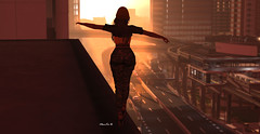 ♫ I believe I can Fly ♫ (MoniKa Dieterle) Tags: monica dieterle model supermodel city fly avatar girl woman villena exile vale koer blog blogger fashion style mode high pose sunset street