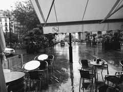 IMG_20180611_120509318 (FAJM) Tags: rain wind sansebastian cafe euskadi basque spain espana bw bn donostia tables chairs mesas