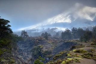 Volcan Osorno en tenida invernal - Parq. Nac. Vicente Perez Rosales (Patagonia - Chile)