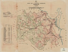 Map of Wide Bay and Burnett Pastoral Districts, February 1899 (Queensland State Archives) Tags: queenslandstatearchives qsa queensland widebay burnett pastoral agriculture map 1890s 1899