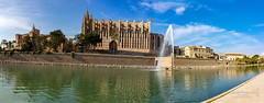 Palma 24 June 2018 00093.jpg (JamesPDeans.co.uk) Tags: forthemanwhohaseverything landscape cathedral church printsforsale mediterranean fountain transporttransportinfrastructure industry water sea religion reflection shore coast spain majorca palma tower mallorca wwwjamespdeanscouk architecture jamespdeansphotography landscapeforwalls europe spire digitaldownloadsforlicence