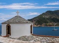 Small Chapel (Skopelos Old Town) The Sporades - Greece (Olympus OM-D EM1-Mk2 & M.Zuiko 12-100mm f4 Travel-Zoom) (1 of 1) (markdbaynham) Tags: greece greek hellas hellenic grecia greka skopelos skopelostown town greektownn sporades sporadesisland greekisland aegean aegeanisland gr europe oly mft olympus olympusgreece omd olympusomd em1 em1ii em1mk2 csc mirrorless evil mzd mz zd zuikolic m43 m43rd microfourthird microfourthirds micro43 micro43rd vacation holiday greekholiday summerholiday church 12100mm
