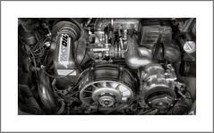 1987 Porsche 911 Carrera Engine, Pahrump , NV (Vincent Galassi) Tags: porsche 911 carrera engine black white cars sport autos