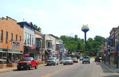 Montello, Wisconsin (Cragin Spring) Tags: montello wisconsin montellowisconsin wi midwest unitedstates usa unitedstatesofamerica smalltown montellowi marquettecounty mainstreet watertower