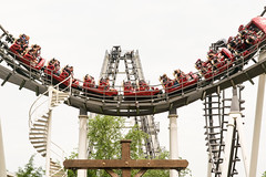 18-3600 (George Hamlin) Tags: pennsylvania hershey hersheyoark amusement park roller coaster sidewinder structure ride cars lines curves vertical stairs photo decor george hamlin photography