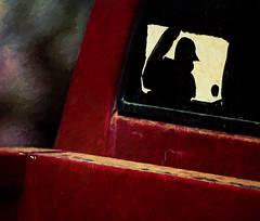 MLB (MyArtistSoul) Tags: mlb majorleaguebaseball pickup truck rear window sticker grungy old red texture 8300