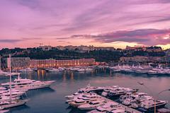Marina in Monaco (www.alexandremalta.com) Tags: nikonflickaward sky sea alexandremalta sunset landscape cityscape boat yacht monaco marina montecarlo