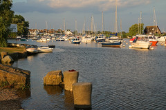 The Quay (myraemery) Tags: quay coast christchurch dorset sunset boats water river trees sky masts