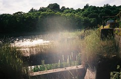 The collapsing passenger jetties (knautia) Tags: riveravon bristol england uk july 2018 film ishootfilm olympus xa2 olympusxa2 kodak kodacolor 200iso nxa2roll34 river avon mud cumberlandbasin floatingharbour jetty lowtide grass