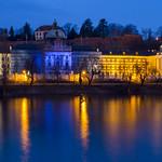 Strakova akademie and Hanavský pavilon at blue hour thumbnail