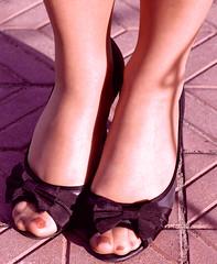 toes in hose (pbass156) Tags: nylon nylons stockings stocking silky hose hosiery nylontoes feet foot footfetish fetish toes toenails toefetish toepolish shoes sheer peeptoes paintedtoes painted pedicure pedi