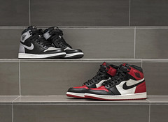 Nike Air Jordan HIGH RETRO OG - Shadow & Bred-Toe. (Andy @ Pang Ket Vui ( shootx2 )) Tags: sneaker sneakerhead shadow nike airjordan street photography fashion flash d800 nikon retro high og original bred toe red stairs