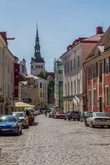 Summer Streets of Medieval Tallinn (AudioClassic) Tags: stolafchurch church city medieval house europe estonia old architecture tallinn town historic heritage wall traditional ancient history exterior building capital baltic european tower estonian travel tourism landmark facade urban cityscape street historical summer culture view famous nordic day roof outdoor national vintage sightseeing tiles window residential windows sky