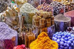 Epices - Spices (Docaron) Tags: emirats emirates uea dubai dubaï doubai doubaï دبي souk épices spices couleurs colors colours dominiquecaron