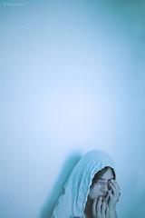 corner* (Wolf's Kurai) Tags: wolfkurai wolfskurai melancholy fragile blue light photography loneliness girl pain eye ill blood darkness