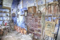 Potting Room at Calke (sdmvqedd30) Tags: 18thcentury potting room plant pots drawers garden tools gardeners clock bricks stone floor terracotta