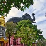 Erawan museum in Samut Phrakan near Bangkok, Thailand thumbnail