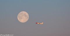 Fly me to the moon (2000stargazer) Tags: norwegian norwegiancom norwegianno airline plane flight transport bergenairport avinor planespotting fullmoon boeing737 bergen norway view canon